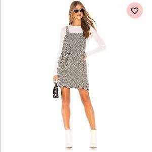 Minkpink Valerie Pinnie Dress in Black & White